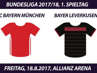 Bundesliga Tickets: FC Bayern - Bayer Leverkusen, 18.8.2017