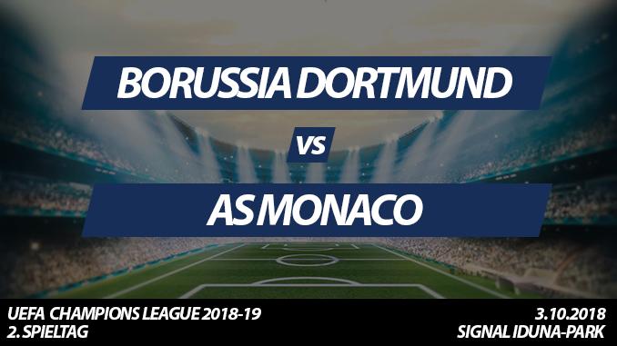 Champions League Tickets: Borussia Dortmund - AS Monaco, 3.10.2018