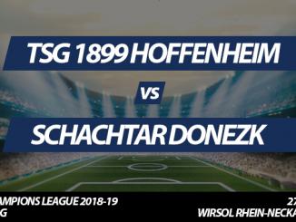 Champions League Tickets: TSG 1899 Hoffenheim - Schachtar Donezk, 27.11.2018